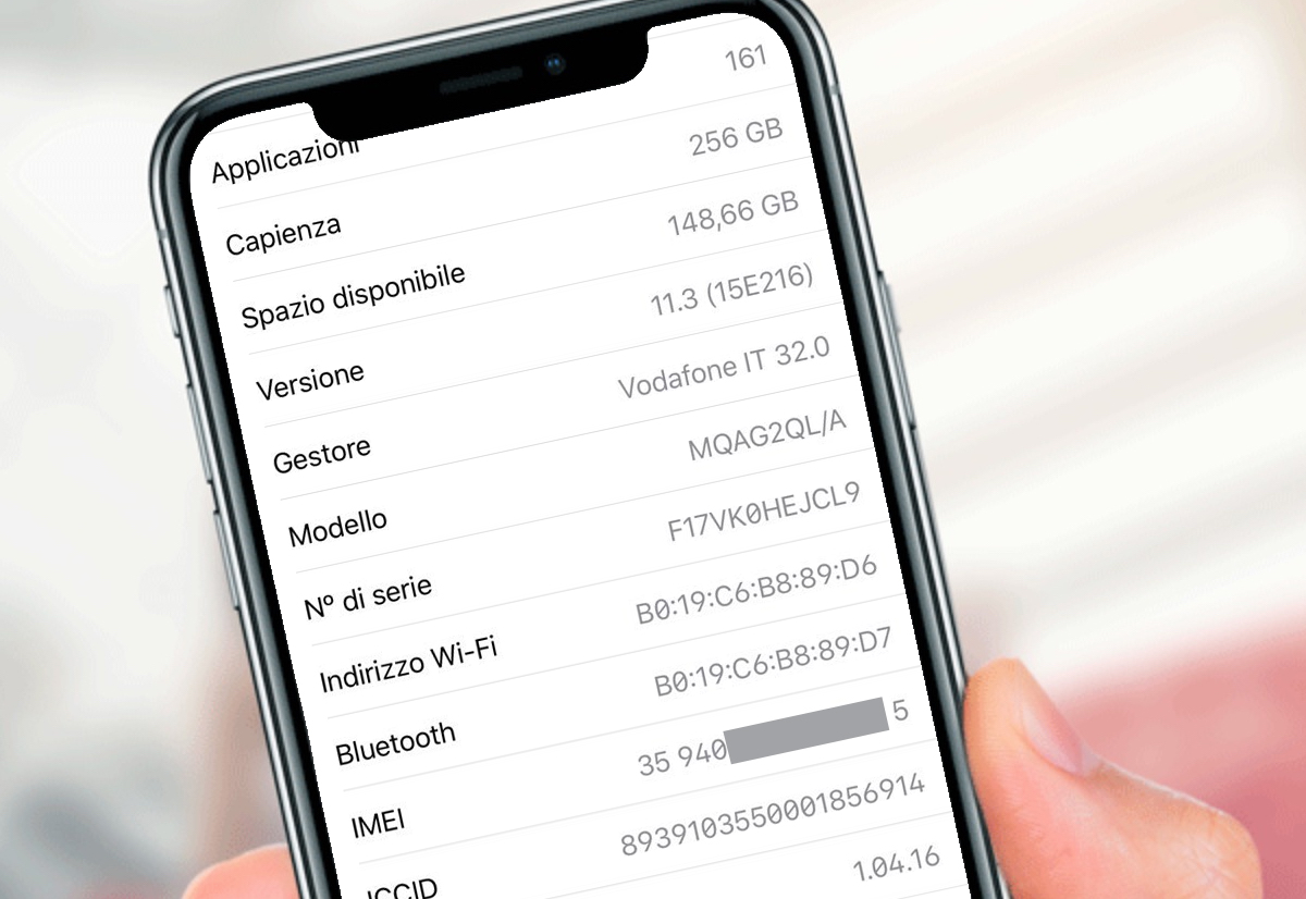 come controllare codice imei iphone 8 Plus