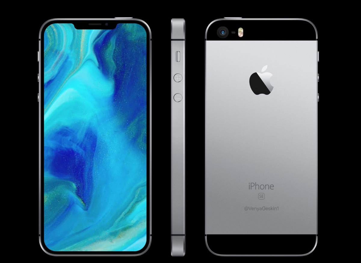 render iphone se 2, foto render iphone SE 2 alla iPhone X di ben geskin