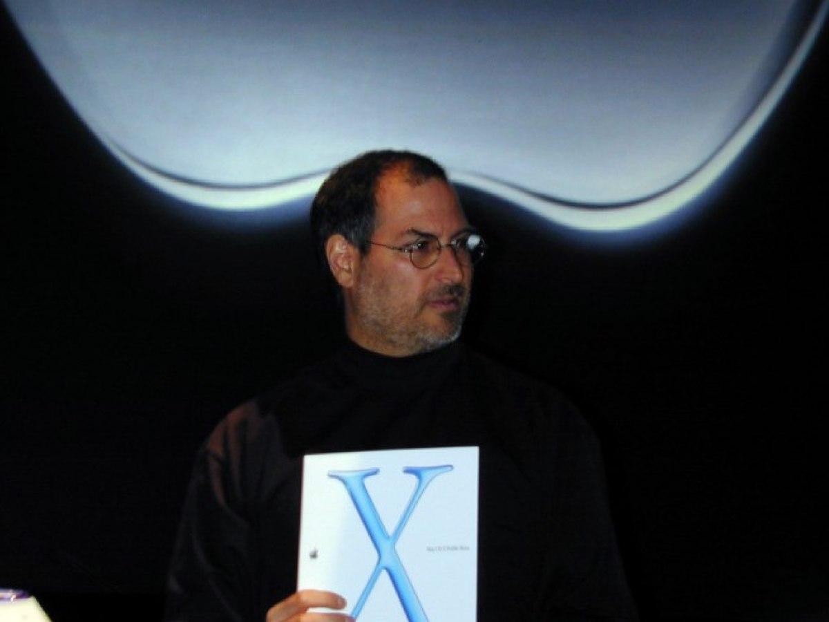 steve jobs lancio di Mac OS x