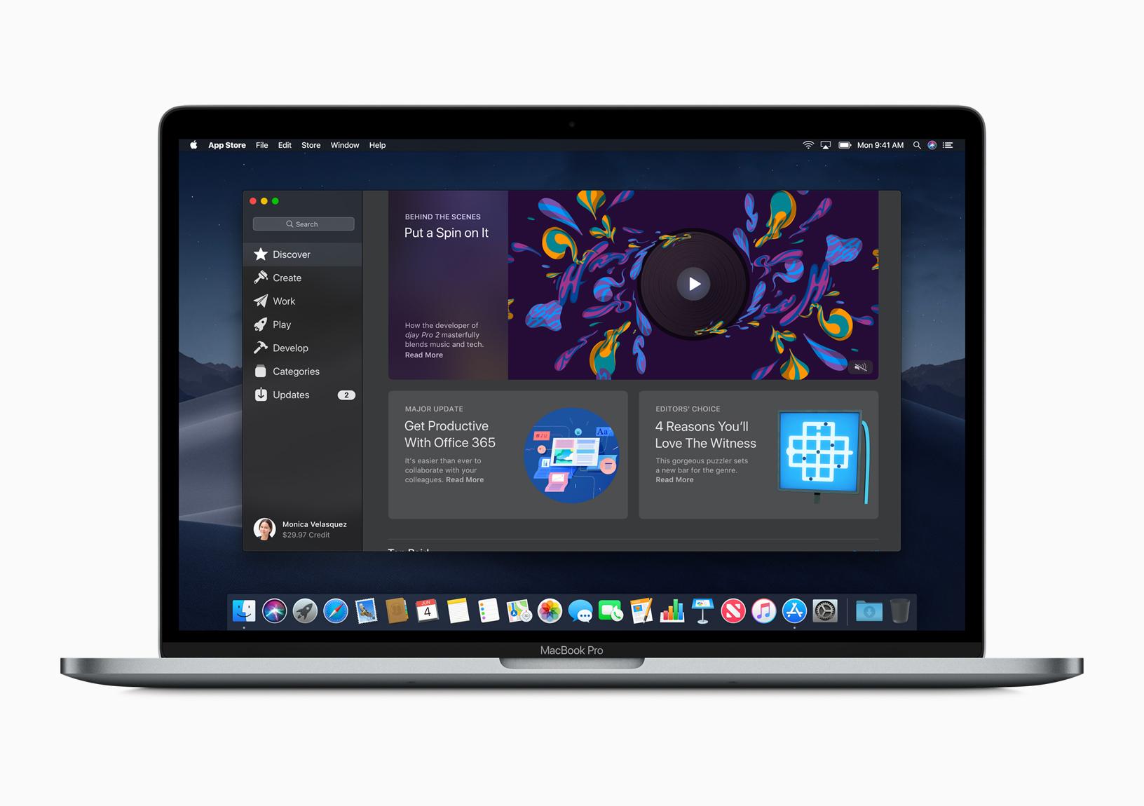 macOS 10.14 nuovo mac app store