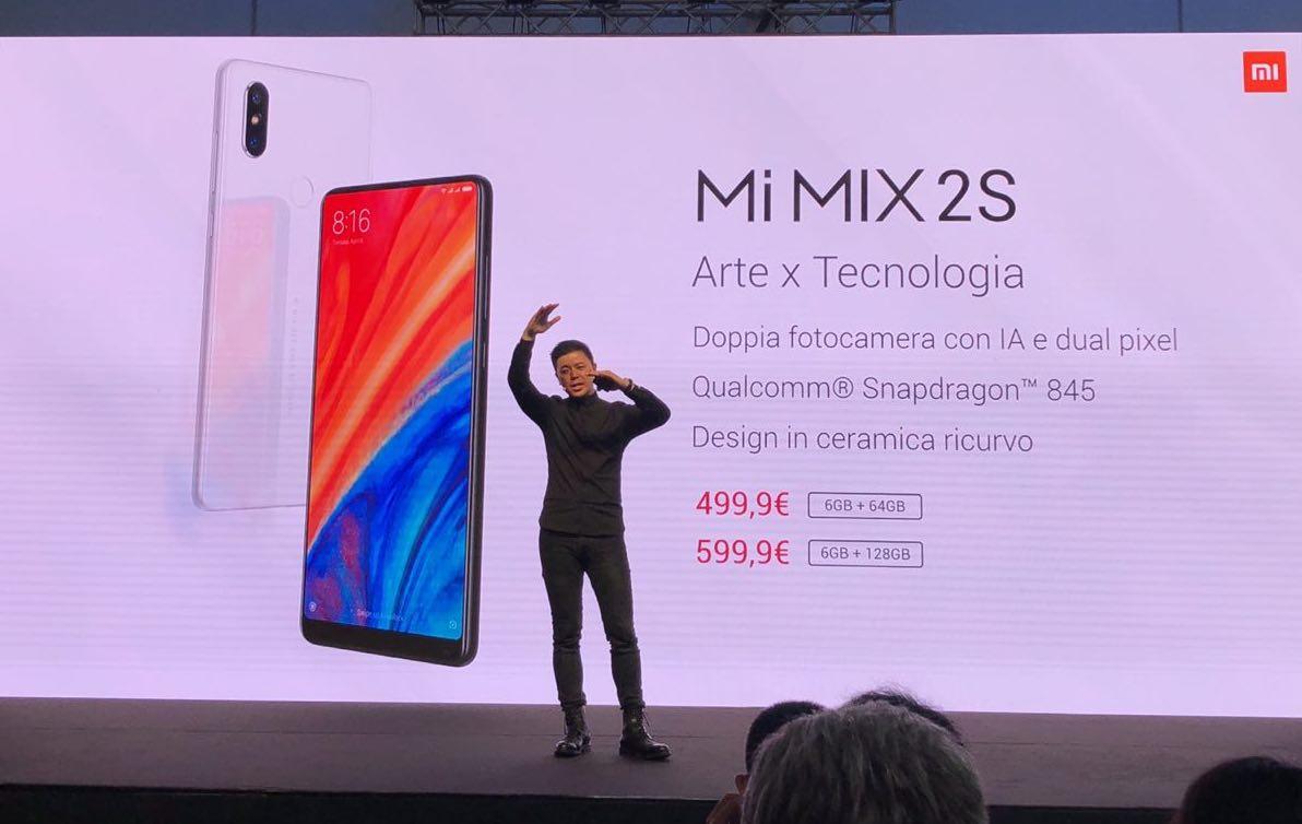 xiaomi in italia, foto Xiaomi Mi Mix 2s debutta ufficialmente in Italia, presentato a Milano