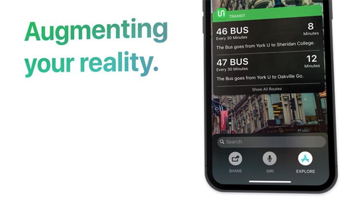 ios 12 concept con Siri Sight, la Realtà Aumentata per scoprire il mondo nel concept di iOS 12