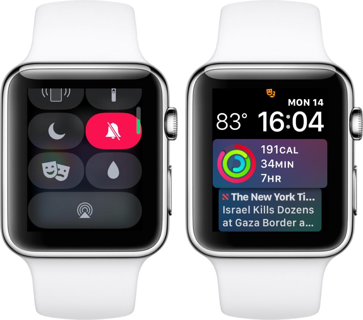 come usare modalità spettacolo apple watch