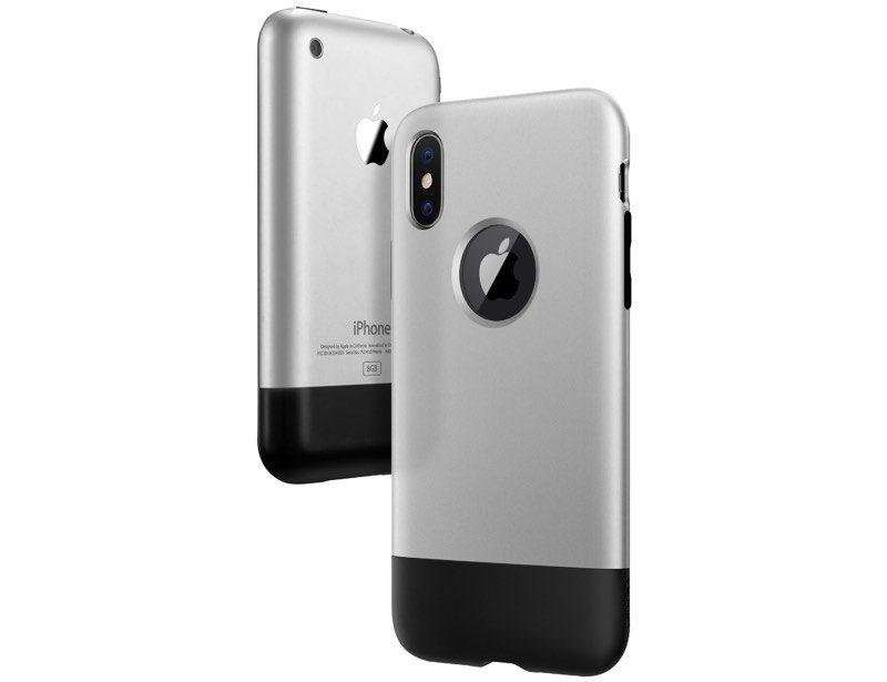 custodie iphone x Spigen, foto cover spigen con look primo iphone