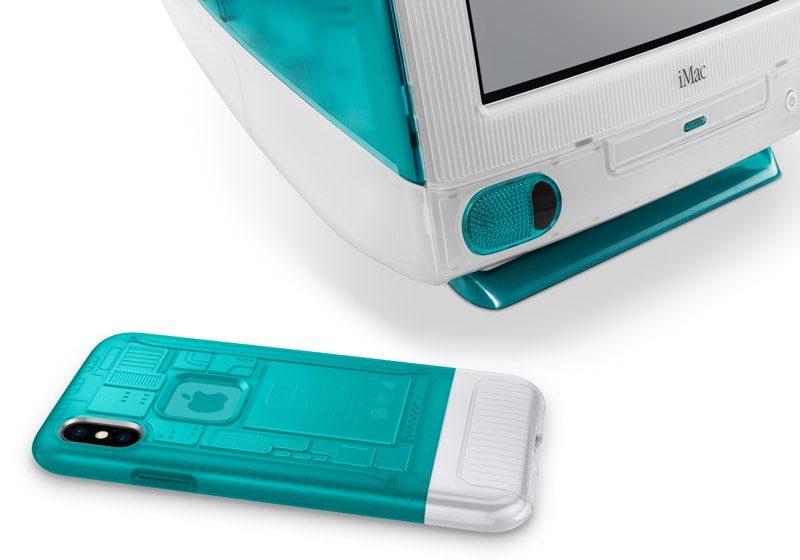 custodie iphone x di Spigen, foto iPhone x con look iMac G3