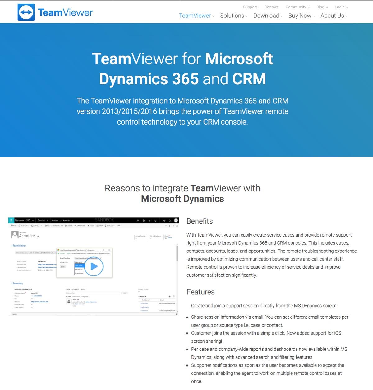 TeamViewer si integra con Microsoft Dynamics 365 per ottimizzare le vendite
