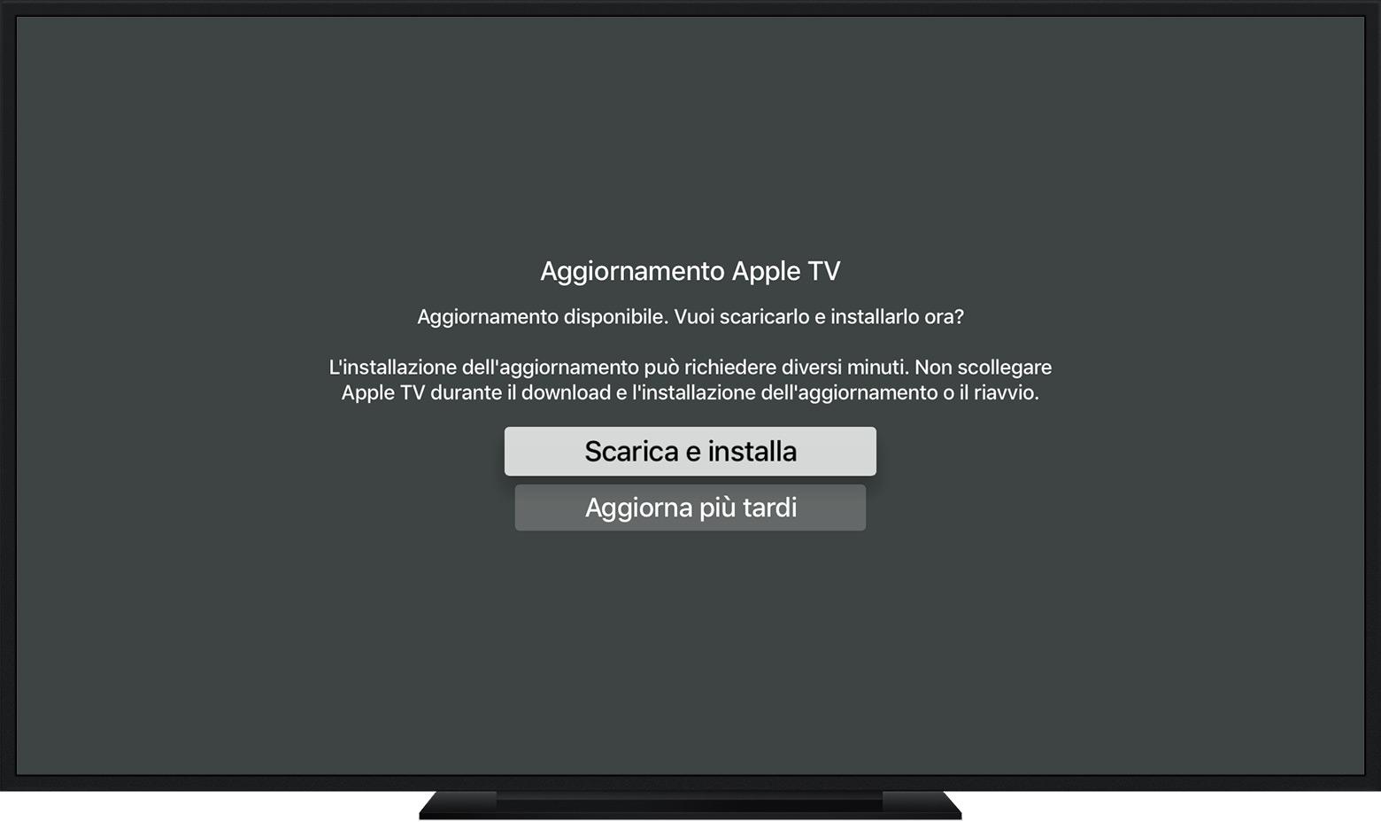 Aggiornare Apple TV