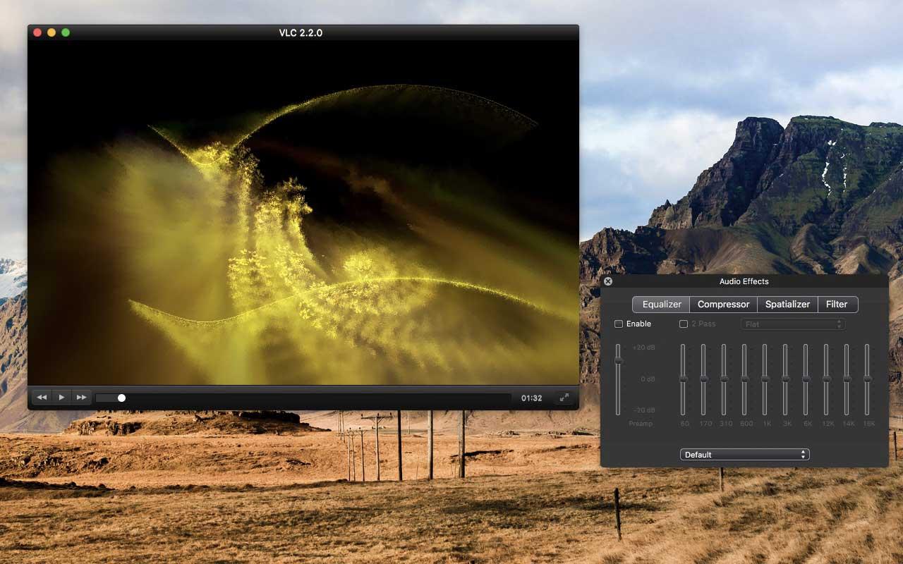 VLC per Mac la finestra degli effetti