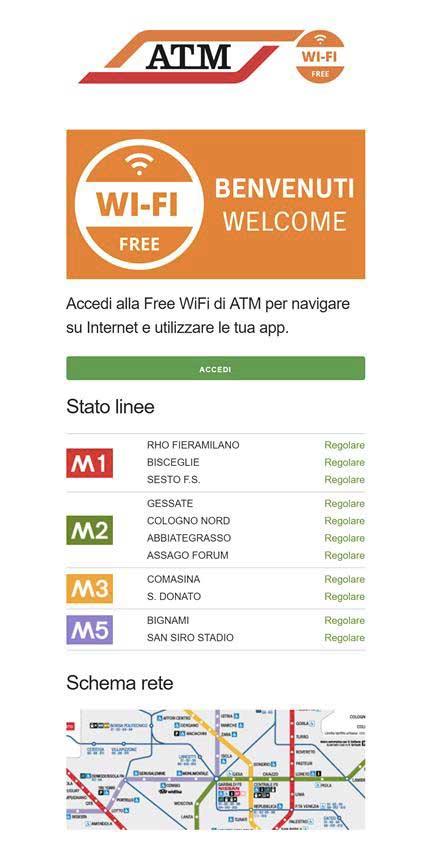 Wi-Fi gratis a Milano, pagina benvenuto