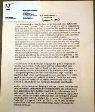 Il documento di presentazione di Warnock
