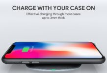 Graphite Wireless Charger, in sconto di 10 euro il carica batteria Aukey per iPhone X, 8 e 8 Plus