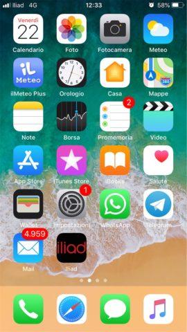 App iliad iPhone non c'è, come creare la scorciatoia all'Area Personale