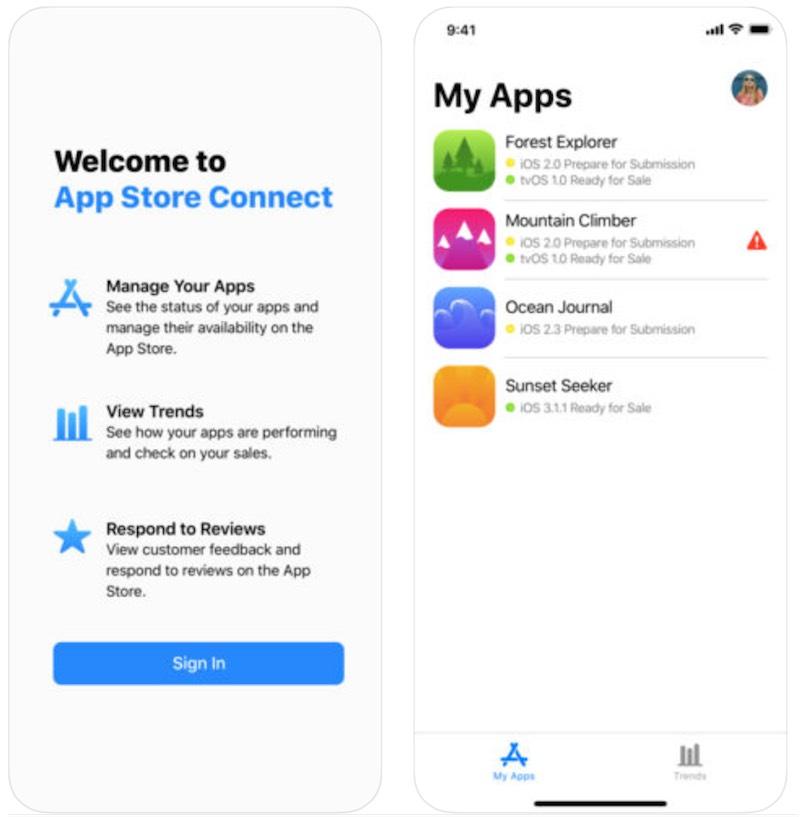 Apple rilascia App Store Connect, nuova app e interfaccia web solo per sviluppatori