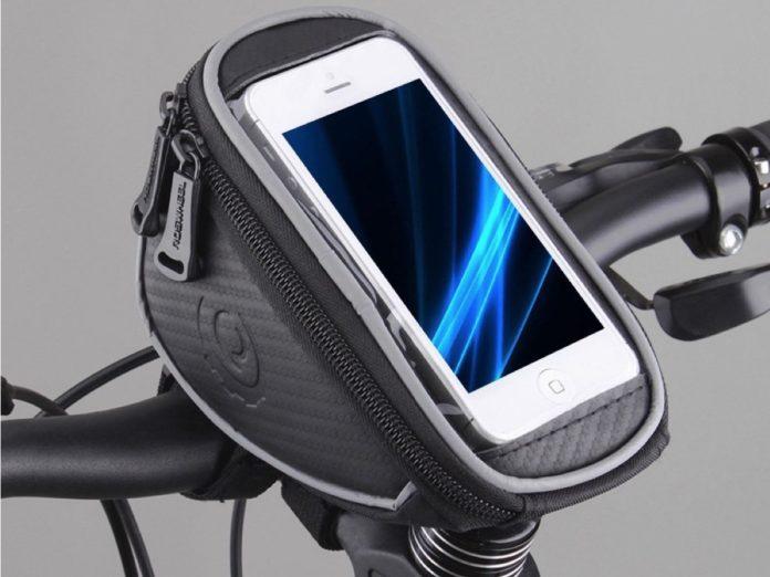 Borsa da bici con custodia smartphone: sconto a 8,90 euro