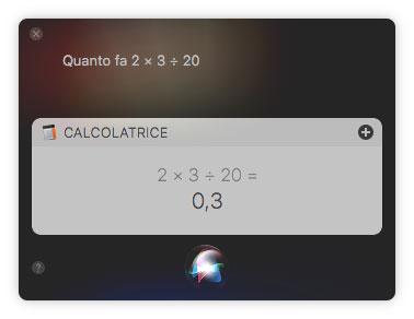 Calcoli con Siri