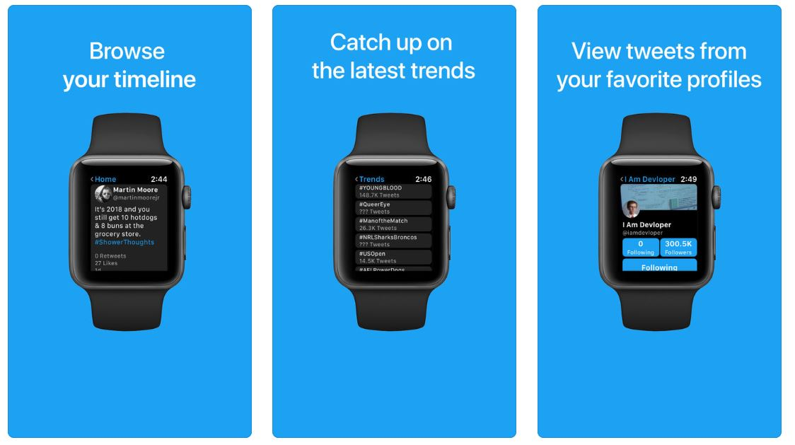 Chirp, l'app che porta Twitter su Apple Watch
