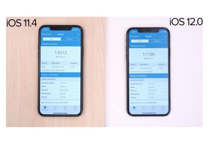 iOS 11.4 vs iOS 12