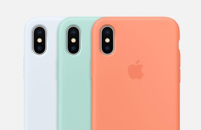 custodia apple in silicone per iphone x