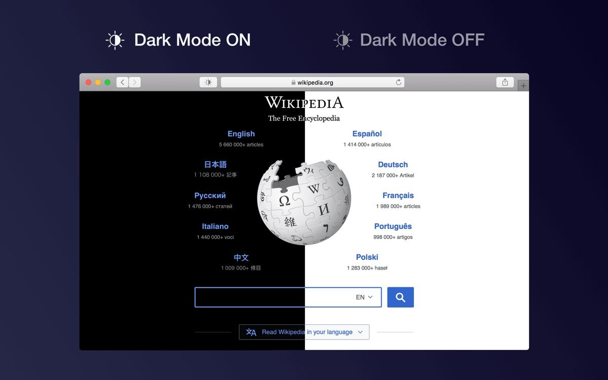 Dark Mode for Safari, l'estensione per usare subito la modalità dark con i siti web su Mac