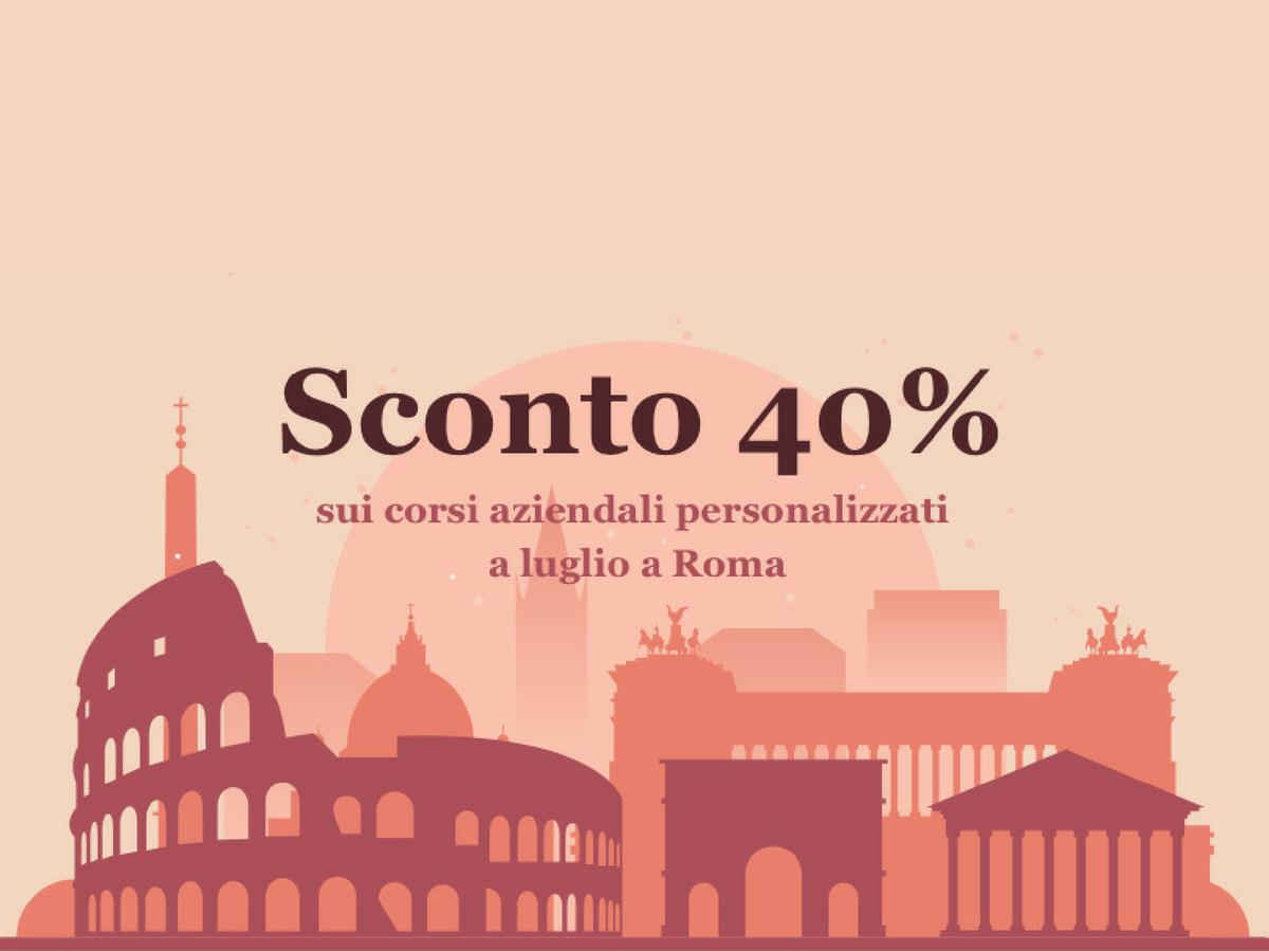 Corsi Èspero personalizzati per le aziende di Roma in sconto 40% per l'estate