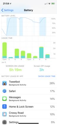 Con in iOS 12 l'iPhone mostrerà un grafico relativo al consumo della batteria