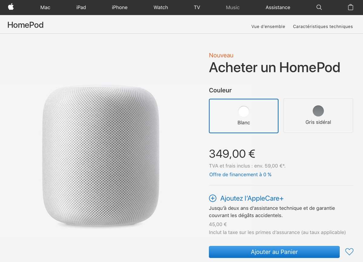 homepod francia foto HomePod oggi disponibile in Francia, Germania e Canada