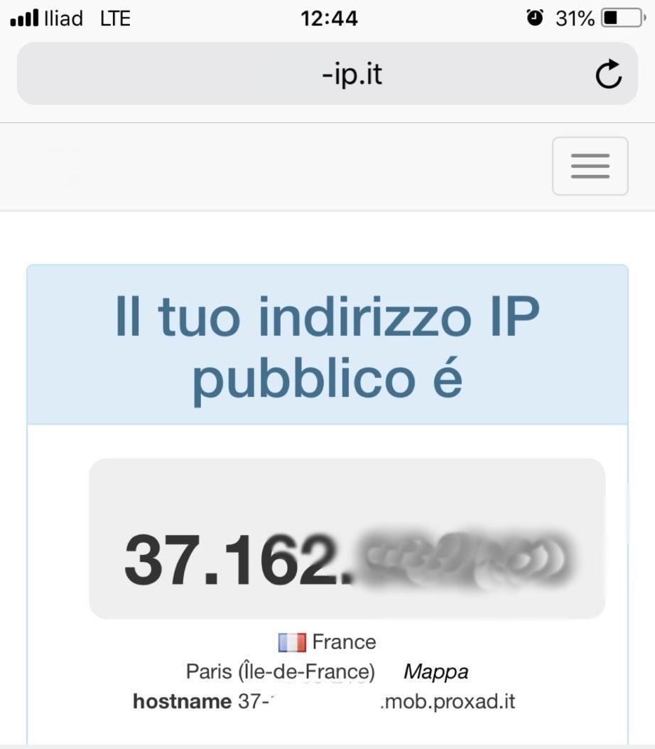 iliad IP francese addio, ora Internet funziona con indirizzi italiani