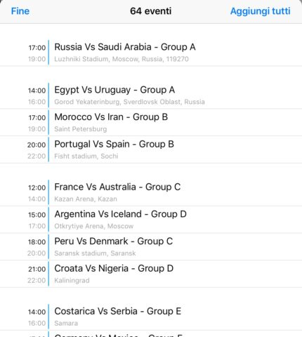 Come seguire e vedere i mondiali 2018 su iOS e Android