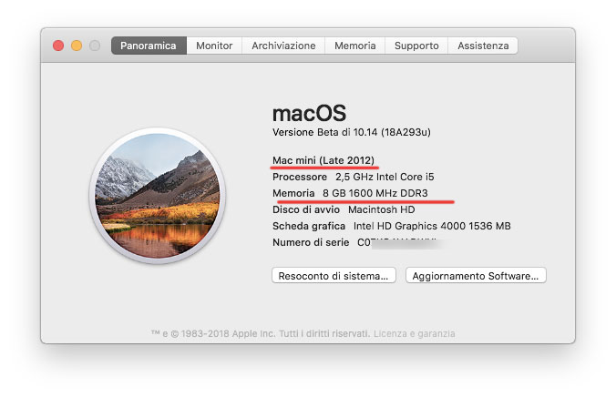 Memoria Mac mini