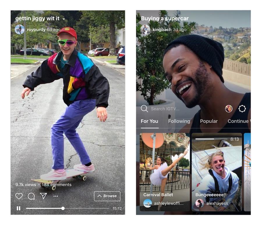 Instagram lancia IGTV l'app per i video nell'era degli smartphone