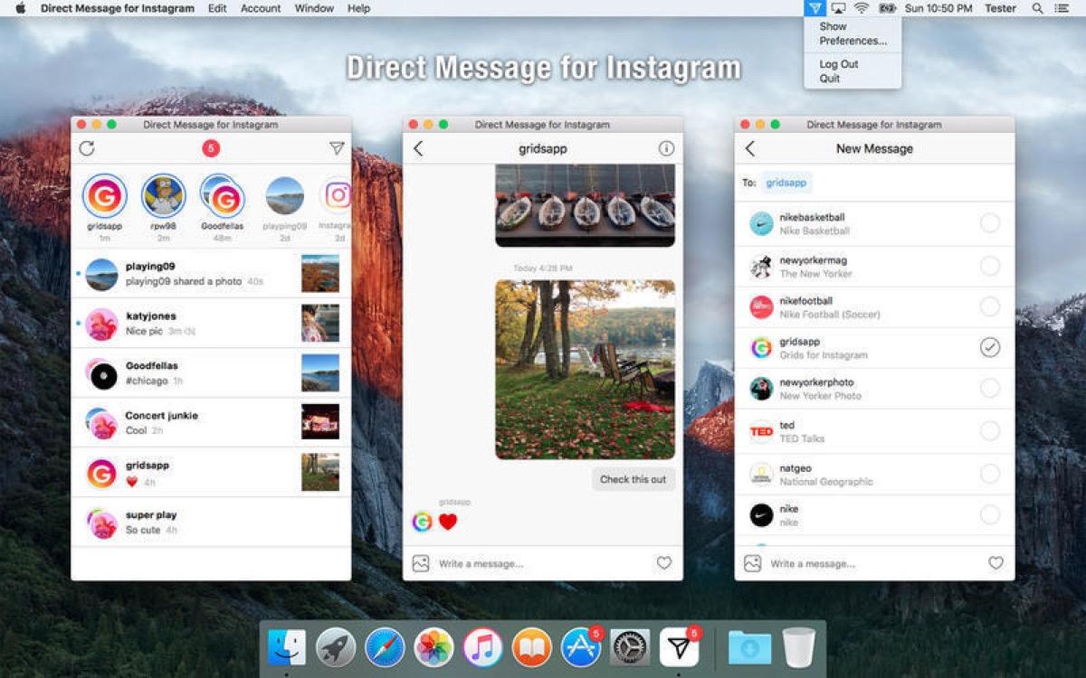 Come chattare su Instagram dal Mac con Direct Message