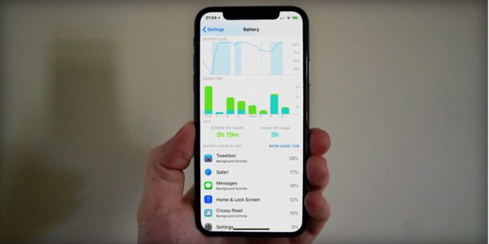 Grafo batteria iOS 12
