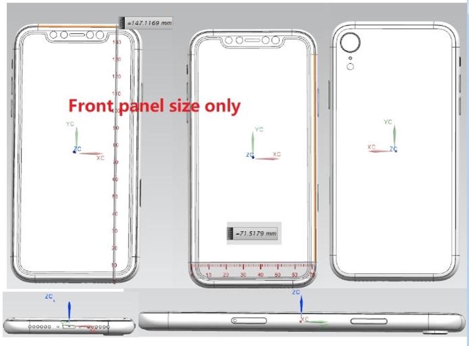 iPhone X Plus con tripla fotocamera e iPhone 6,1 pollici con Face ID negli ultimi schemi