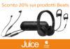 Da Juice tutti i prodotti Beats scontati del 20%, sconti più alti per i prodotti fine serie