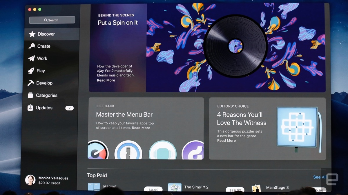 Apple presenta macOS 10.14: nome in codice Mojave