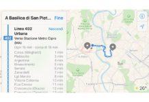 Apple Mappe include i mezzi pubblici in Italia, per ora solo a Roma