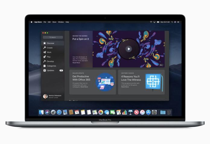 Mac App Store su Mojave