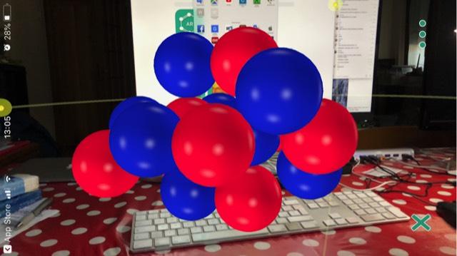 molecular 14 foto app molecular in funzione su iPhone mostra molecole in realtà aumentata