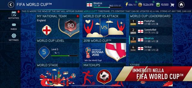 FIFA Soccer: FIFA World Cup, su iOS anche l'Italia gioca i mondiali di Russia 2018