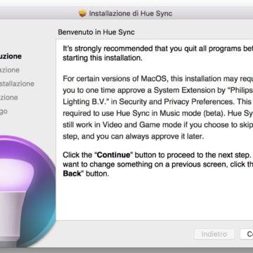 Philips Hue Sync per Mac e PC, l'app gratuita che colora dinamicamente la vostra casa