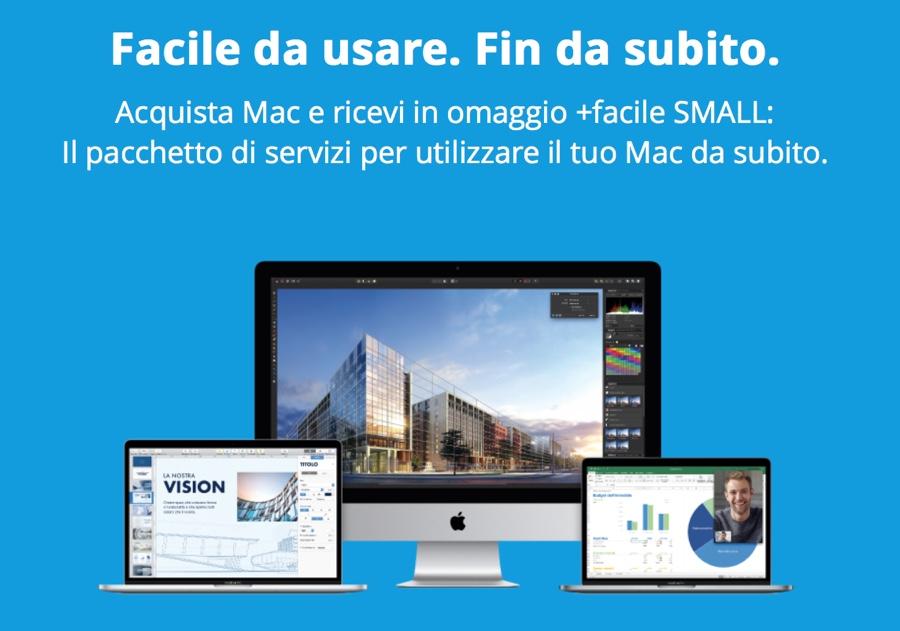 R-Store sconta MacBook Air e Pro, in omaggio il pacchetto di servizi +Facile Small