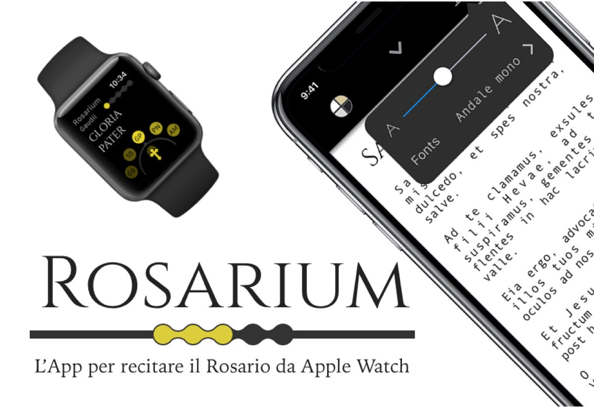 Rosarium, l'app tutta italiana per recitare il Rosario con Apple Watch