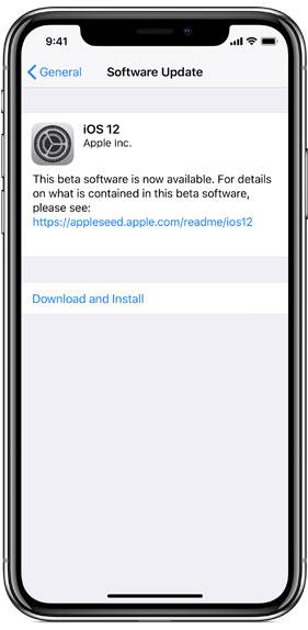 Installare iOS 12 beta