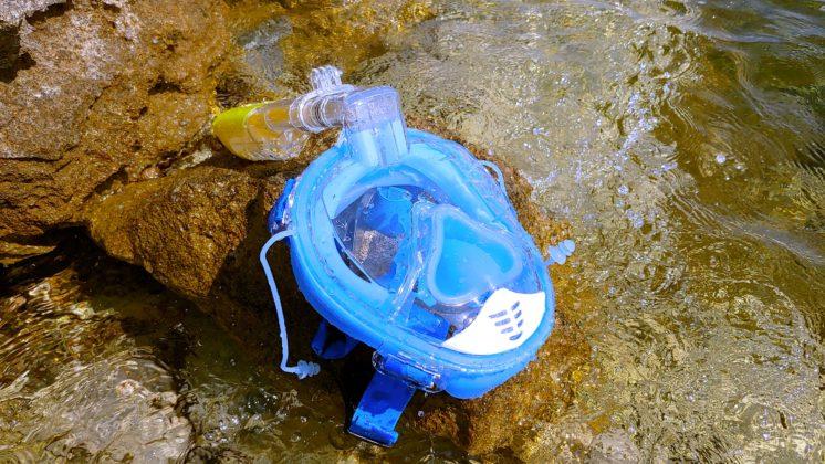 Recensione maschera panoramica Kungber, per lo snorkeling con action cam al seguito