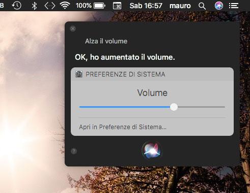 Volume con Siri