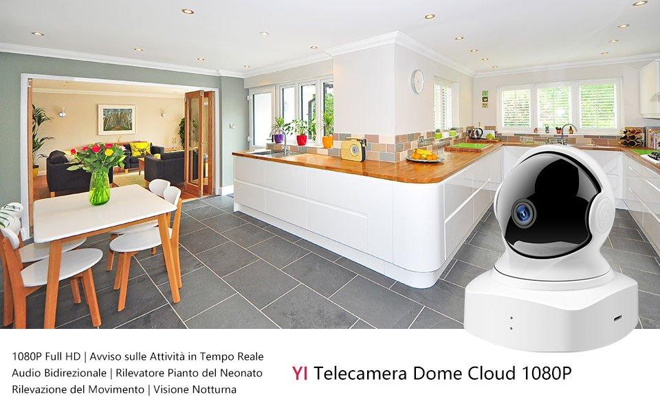 La nuova camera di sicurezza YI Cloud Dome Camera solo per oggi a 36,99 euro su Amazon
