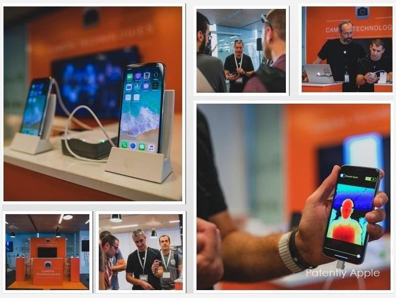 Collage di foto dalla struttura israeliana di Apple che si occupa di imaging
