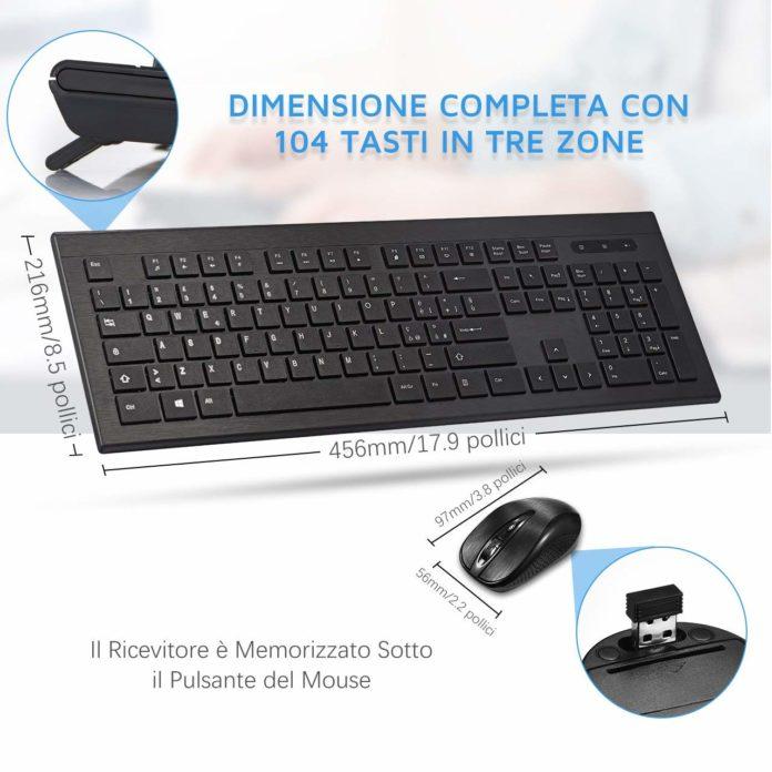 Combo Mouse e Tastiera wireless di buona qualità a 19,99 euro
