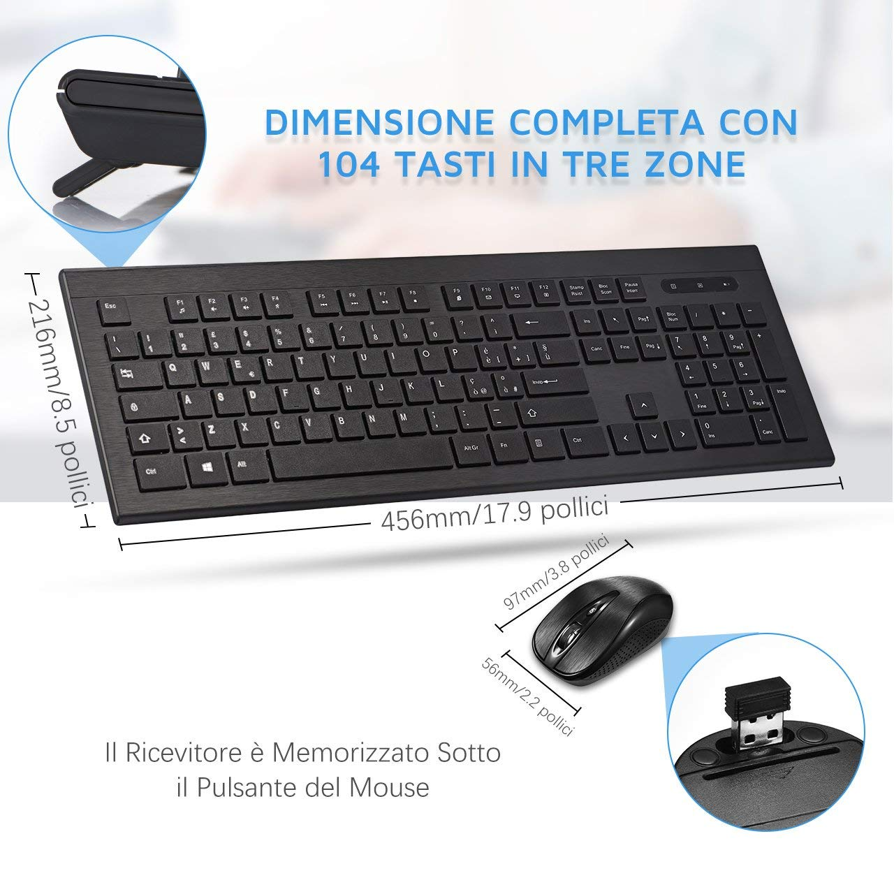 sconto su mouse e tastiera wireless di buona qualit solo oggi a 19 99 euro. Black Bedroom Furniture Sets. Home Design Ideas