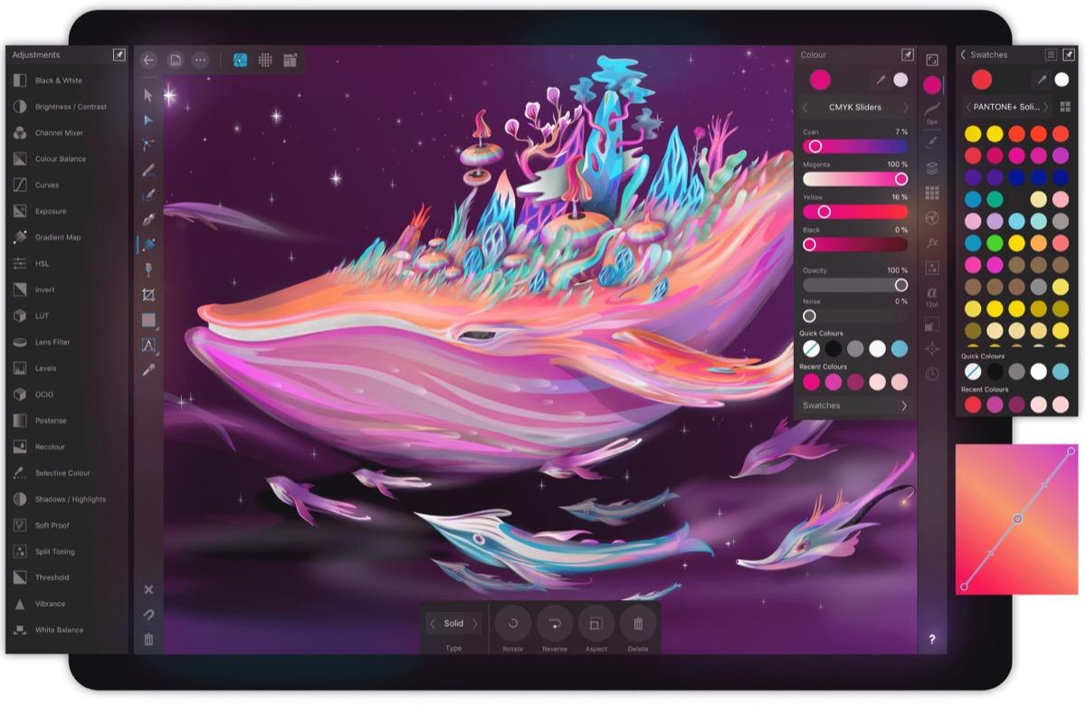Affinity Designer per iPad, arriva su tablet il disegno vettoriale di qualità professionale
